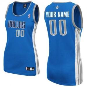 Dallas Mavericks Authentic Personnalisé Road Maillot d'équipe de NBA - Bleu royal pour Femme