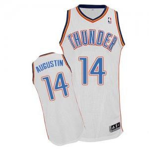Oklahoma City Thunder D.J. Augustin #14 Home Authentic Maillot d'équipe de NBA - Blanc pour Homme