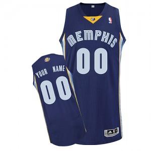 Maillot NBA Authentic Personnalisé Memphis Grizzlies Road Bleu marin - Enfants