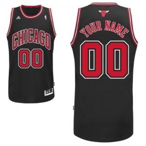Chicago Bulls Swingman Personnalisé Alternate Maillot d'équipe de NBA - Noir pour Homme