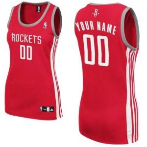Maillot Adidas Rouge Road Houston Rockets - Authentic Personnalisé - Femme