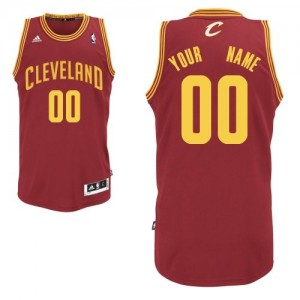 Cleveland Cavaliers Personnalisé Adidas Road Vin Rouge Maillot d'équipe de NBA à vendre - Swingman pour Homme