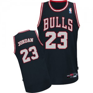 Maillot NBA Chicago Bulls #23 Michael Jordan Noir / Blanc Adidas Authentic - Homme