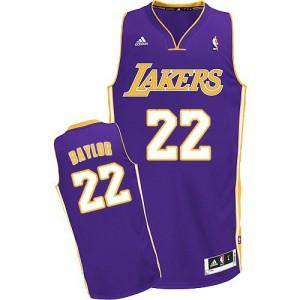 Maillot NBA Los Angeles Lakers #22 Elgin Baylor Violet Adidas Swingman Road - Homme