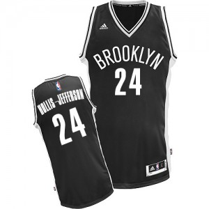 Maillot NBA Noir Rondae Hollis-Jefferson #24 Brooklyn Nets Road Swingman Homme Adidas