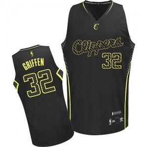 Los Angeles Clippers Blake Griffin #32 Electricity Fashion Authentic Maillot d'équipe de NBA - Noir pour Homme