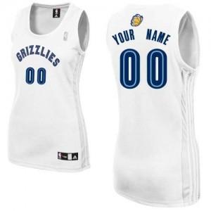 Maillot NBA Blanc Authentic Personnalisé Memphis Grizzlies Home Femme Adidas