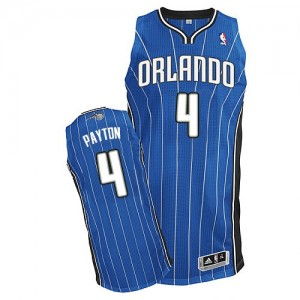 Orlando Magic Elfrid Payton #4 Road Authentic Maillot d'équipe de NBA - Bleu royal pour Homme