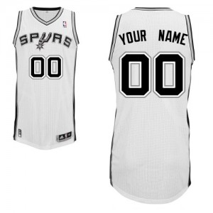 Maillot NBA San Antonio Spurs Personnalisé Authentic Blanc Adidas Home - Enfants