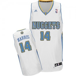 Maillot NBA Denver Nuggets #14 Gary Harris Blanc Adidas Swingman Home - Homme