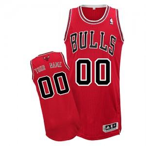 Maillot Adidas Rouge Road Chicago Bulls - Authentic Personnalisé - Enfants