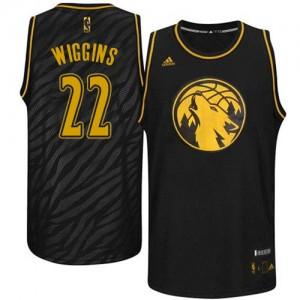 Maillot NBA Noir Andrew Wiggins #22 Minnesota Timberwolves Precious Metals Fashion Swingman Homme Adidas
