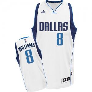 Maillot NBA Dallas Mavericks #8 Deron Williams Blanc Adidas Swingman Home - Homme