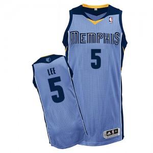 Maillot NBA Authentic Courtney Lee #5 Memphis Grizzlies Alternate Bleu clair - Homme