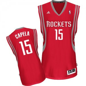 Houston Rockets Clint Capela #15 Road Swingman Maillot d'équipe de NBA - Rouge pour Homme