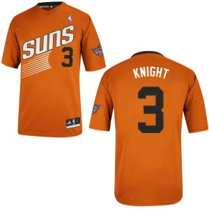 Maillot NBA Phoenix Suns #3 Brandon Knight Orange Adidas Authentic Alternate - Homme