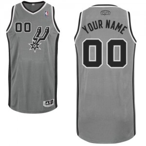 Maillot NBA San Antonio Spurs Personnalisé Authentic Gris argenté Adidas Alternate - Enfants