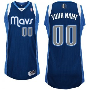 Maillot Dallas Mavericks NBA Alternate Bleu marin - Personnalisé Authentic - Homme