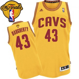 Maillot Authentic Cleveland Cavaliers NBA Alternate 2015 The Finals Patch Or - #43 Brad Daugherty - Homme