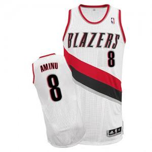Portland Trail Blazers #8 Adidas Home Blanc Authentic Maillot d'équipe de NBA en soldes - Al-Farouq Aminu pour Homme