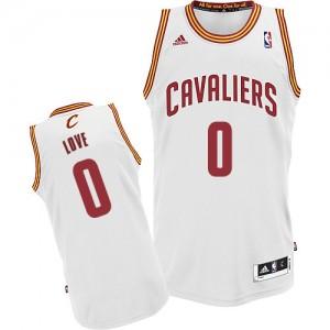 Cleveland Cavaliers #0 Adidas Home Blanc Swingman Maillot d'équipe de NBA la vente - Kevin Love pour Enfants