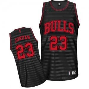 Maillot Authentic Chicago Bulls NBA Groove Gris noir - #23 Michael Jordan - Homme