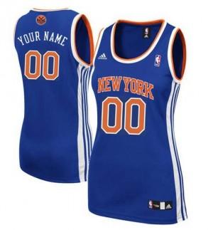Maillot NBA New York Knicks Personnalisé Swingman Bleu royal Adidas Road - Femme