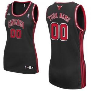 Chicago Bulls Authentic Personnalisé Alternate Maillot d'équipe de NBA - Noir pour Femme
