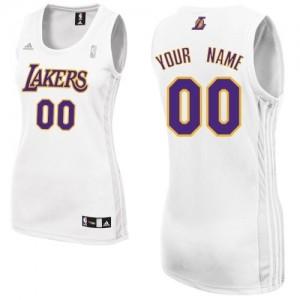 Los Angeles Lakers Personnalisé Adidas Alternate Blanc Maillot d'équipe de NBA pas cher - Swingman pour Femme