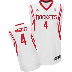 Maillot Adidas Blanc Home Swingman Houston Rockets - Charles Barkley #4 - Homme