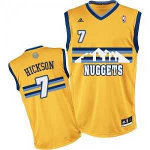 Maillot NBA Or JJ Hickson #7 Denver Nuggets Alternate Swingman Homme Adidas