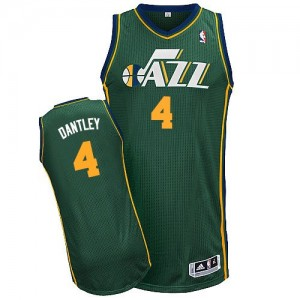 Utah Jazz #4 Adidas Alternate Vert Authentic Maillot d'équipe de NBA Le meilleur cadeau - Adrian Dantley pour Homme
