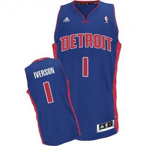 Maillot NBA Swingman Allen Iverson #1 Detroit Pistons Road Bleu royal - Homme