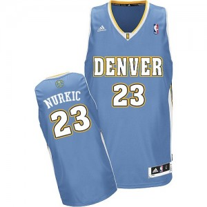 Maillot NBA Bleu clair Jusuf Nurkic #23 Denver Nuggets Road Swingman Homme Adidas