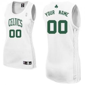 Boston Celtics Personnalisé Adidas Home Blanc Maillot d'équipe de NBA Vente pas cher - Authentic pour Femme