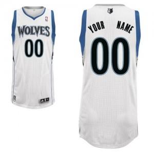 Minnesota Timberwolves Personnalisé Adidas Home Blanc Maillot d'équipe de NBA préférentiel - Authentic pour Homme