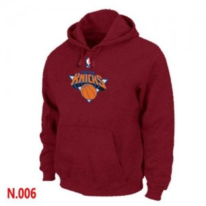 Pullover Sweat à capuche New York Knicks NBA Rouge - Homme