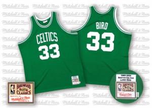 Maillot Mitchell and Ness Vert Throwback Swingman Boston Celtics - Larry Bird #33 - Homme