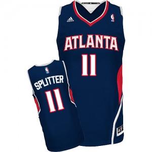 Maillot Adidas Bleu marin Road Swingman Atlanta Hawks - Tiago Splitter #11 - Homme