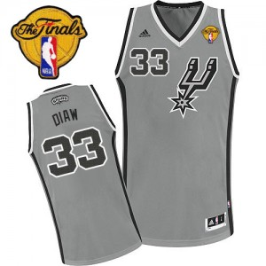 Maillot NBA Swingman Boris Diaw #33 San Antonio Spurs Alternate Finals Patch Gris argenté - Homme