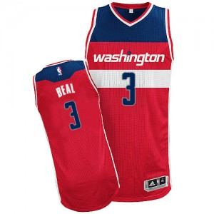 Maillot NBA Rouge Bradley Beal #3 Washington Wizards Road Authentic Homme Adidas