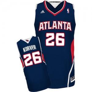 Maillot Adidas Bleu marin Road Swingman Atlanta Hawks - Kyle Korver #26 - Homme