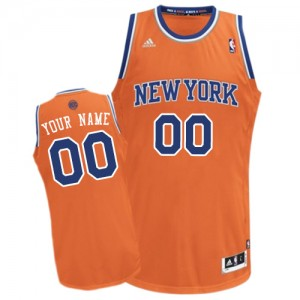 Maillot NBA Swingman Personnalisé New York Knicks Alternate Orange - Femme