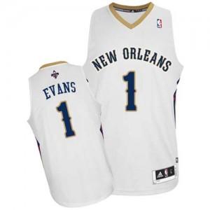New Orleans Pelicans #1 Adidas Home Blanc Authentic Maillot d'équipe de NBA sortie magasin - Tyreke Evans pour Homme