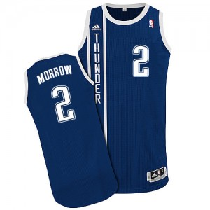 Maillot NBA Bleu marin Anthony Morrow #2 Oklahoma City Thunder Alternate Authentic Homme Adidas