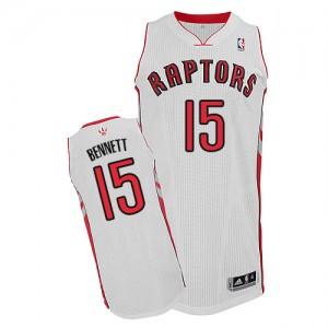 Toronto Raptors #15 Adidas Home Blanc Authentic Maillot d'équipe de NBA Vente - Anthony Bennett pour Homme