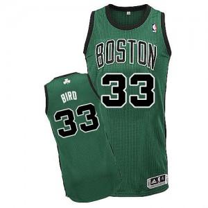 Maillot NBA Authentic Larry Bird #33 Boston Celtics Alternate Vert (No. noir) - Enfants