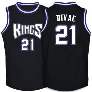 Maillot Adidas Noir Throwback Authentic Sacramento Kings - Vlade Divac #21 - Homme