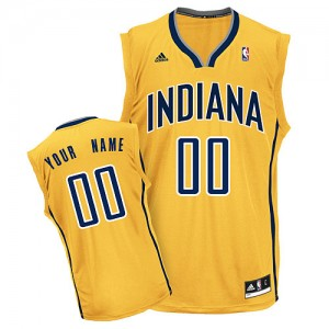 Maillot NBA Indiana Pacers Personnalisé Swingman Or Adidas Alternate - Femme