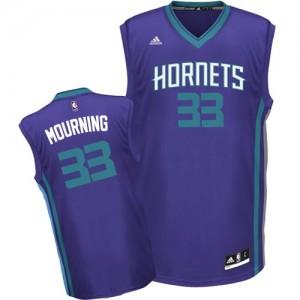 Maillot Swingman Charlotte Hornets NBA Alternate Violet - #33 Alonzo Mourning - Homme